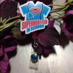 Superheroes in Scrubs Badge Holder
